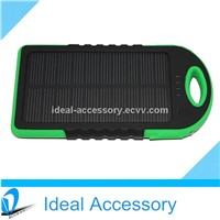 New Arrival Dual Port Portable Sport Solar Charger Power Bank 5500mAh High Capacity