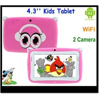 New nice Android 4.2 kids tablet pc 4.3 inch touch screen Smart MP4 player 1080p videos