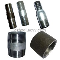 Plumbing NPT thread steel pipe nipples and sockets