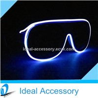 Popular Crazy Party Use Carrera Style El Wire Light Up Sunglasses For Night Club&Eyewear,
