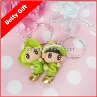 Promotion Keychain Gift Clay Keyring Cute Face Key Chain