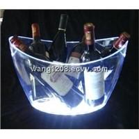 Promotional huge plastic led illuminated ice bucket