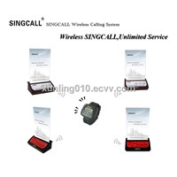 SINGCALL wireless calling sytem with portable receiver