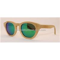 SW009 Hand Sanded Bamboo Sunglasses, Revo Lenses Bamboo Sunglasses