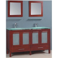 Solid wood standing 60 inch bathroom vanities