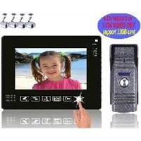 """Touch key 9"""" wired color video door phone,pinhole camera with rainproof HZ-901ME11"""