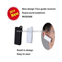 Wireless Digital Ear-hanging Receiver for Tour Guide  System WUS028