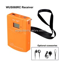 Wireless Tour Guide System Portable Audio Guide Receiver with Lithium battery for interpretation