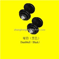 black dumbbell