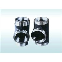 butt-weld alloy steel thick-walled tee pipe fittings manufacturer
