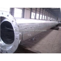 galvanized electric power steel tubular pole