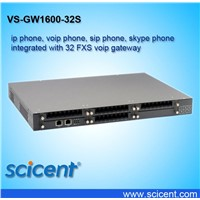 ip phone, voip phone, sip phone, skype phone integrated with 32 FXS voip gateway