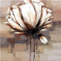 large white flower oil paintings,abstract wall art Picture