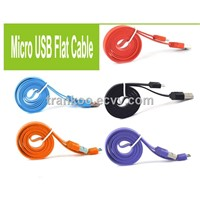 micro USB Flat Data Cable Mobile Phone Data Charger Combo Cable