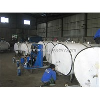 Stainless Steel Milk Cooling Tank and Easy for Cleaing