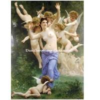 the heart's awakening by William Adolphe Bouguereau