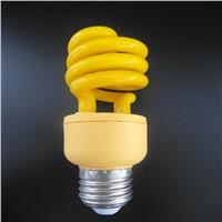 yellow color half spiral energy saving  lamp