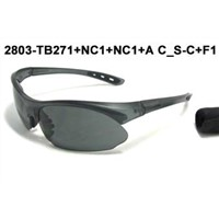Sports Sunglasses With Gray Paint