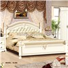 Rubber wood solid wood furniture bedroom furniture king size bed