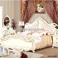 Classic bedroom furniture solid wood bed hoistable bed