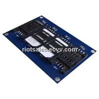 Contact & Contactless RFID Reader Module with 4 SAM slot ISO7816