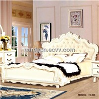 Italian style bedroom furniture rubber wood bed