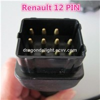 RENAULT 12Pin Male to OBD OBD2 DLC 16 Pin Female Car Diagnostic Tool Adapter Converter Cable
