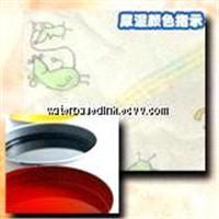 Rotogravure water borne ink for diaper wetness indicator
