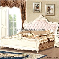 Simple european style wooden furniture beds