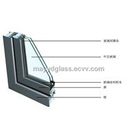 10mm blue tempered+9A+10mm clear tempered insulated glass