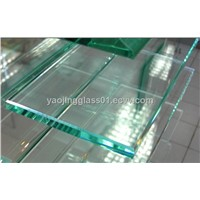 12mm clear flat tempered safety glass