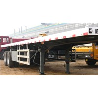 2 AXLES FLAT BED SEMI TRAILER for laoding container