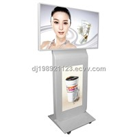 46+32 inch dual screen indoor floor standing replacement lcd tv screen
