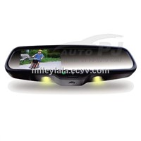 "4.3"" OEM Bluetooth Car Rear View Mirror with Auto Brightness Adjustment and Warm Lights"