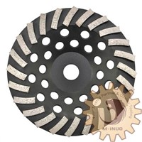 """7"""" Premium Swirly Diamond Cup Grinding Wheel, Used for Concrete Grinding"""