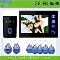 """7""""color TFT LCD Video Door Phone with sensitivity touch panel"""
