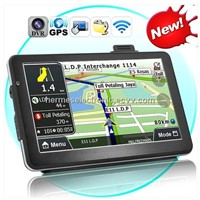 7 inch GPS navigation, DVR+Bluetooth + AV IN + FM+4GB, DDR 128 Win CE 6.0