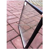 8mm green tempered+9A+8mm clear coated tempered sound-insulated glass for building glass