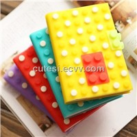 A6 Iridescent silicone notebook with round blocks shape China supplier