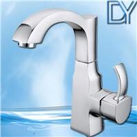 Artistic brass basin faucet