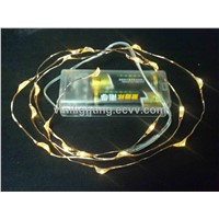Battery operated copper wire LED christmas light string