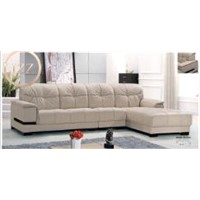 Black Sectional Leather Sofa L.J817