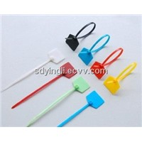Cable tie with label