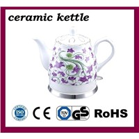 Ceramic Electric Wireless Kettle with Chinese Painting