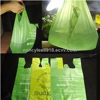 China Custom  Plastic T-shirt Bag with Factory Price