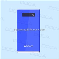 DOCA D602 Hot! 8000mAh Ultrathin Power Bank With Touch Switch