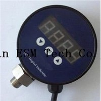 Digital pressure gauge with a two-point control