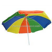 Double ribs windproof sun umbrella