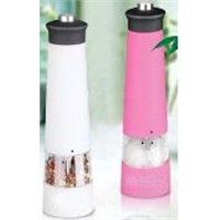 Electric salt  and pepper mill with light