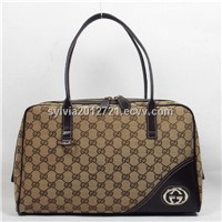 Elegant fabric and real leather gucci bags branded bag brand bag